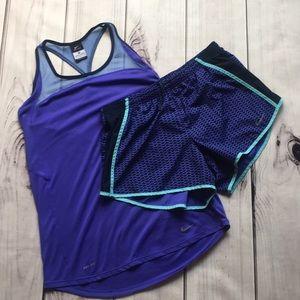 Nike DRI-FIT running tank/shorts set, medium